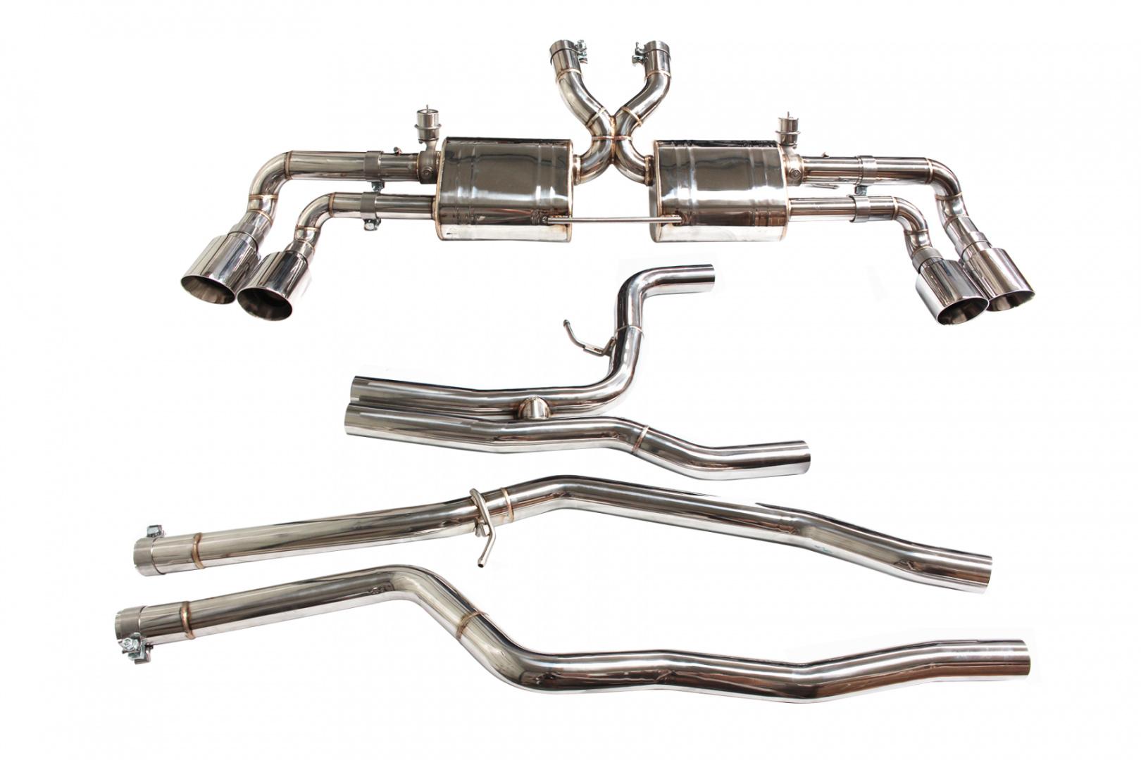 Aktywny układ wydechowy CatBack Porsche Cayenne 958.2 3.0T/3.6T 15-17 - GRUBYGARAGE - Sklep Tuningowy